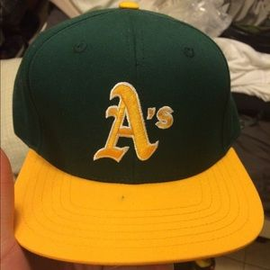 American Needle Accessories - Green and yellow A's snapback!