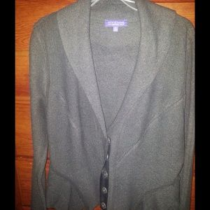 Grey wool peplum jacket