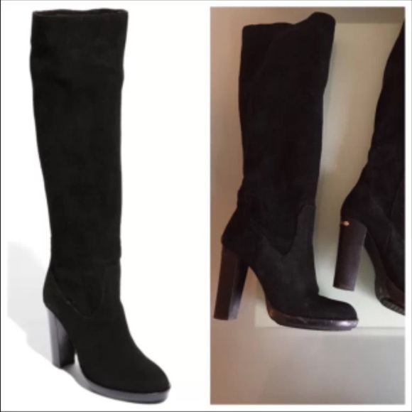 3761a01f5f9e Michael Kors Lesly Knee-High Boot Black suede 10 M.  M 550766d73c6f9f272900f3b4