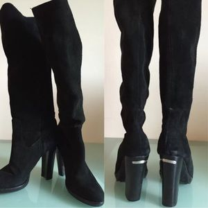 997be01a84fa Michael Kors Shoes - Michael Kors Lesly Knee-High Boot Black suede 10 M