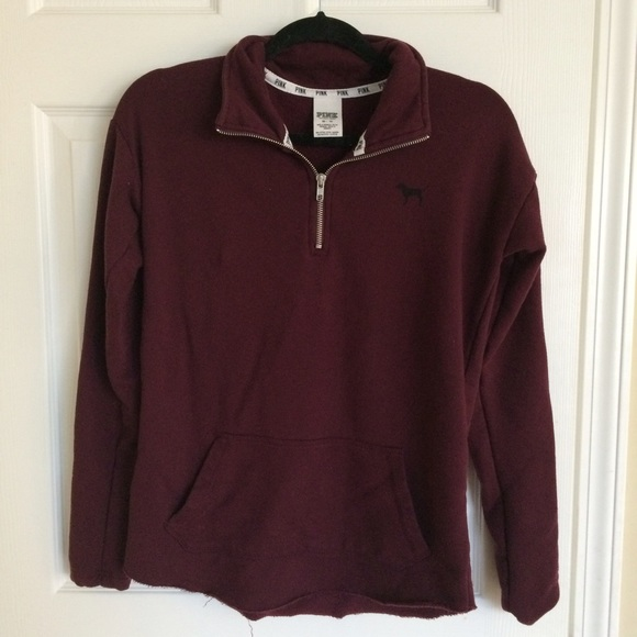 42% off PINK Victoria's Secret Outerwear - PINK maroon sweater ...