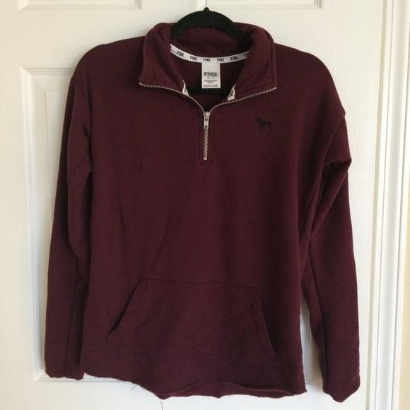 42% off PINK Victoria's Secret Outerwear - PINK maroon sweater ...