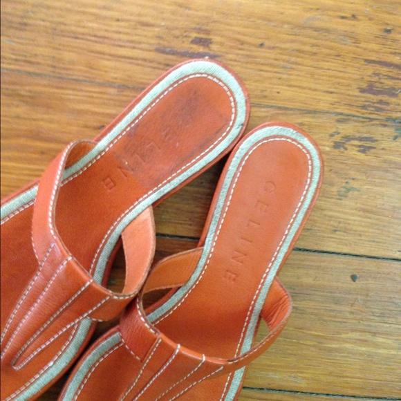 Celine Celine Leather Sandals From Resale S Closet On