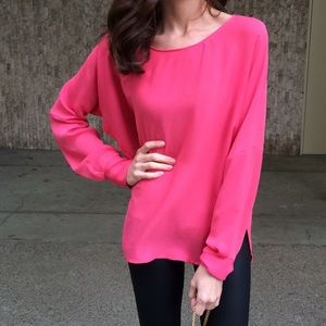 Bright Pink Zara Blouse