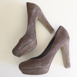 JS BY JESSICA Brown Suede Pumps