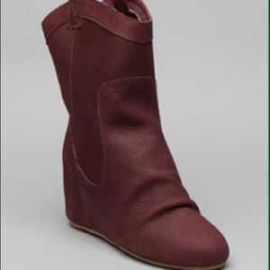 80%20 Annie cowgirl wedge boot wine nubuck leather