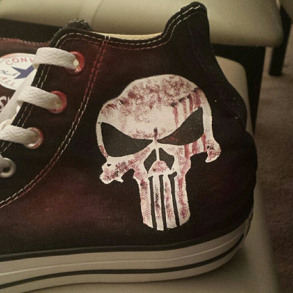 0f00c04cdfde Converse Shoes - The Punisher custom painted converse