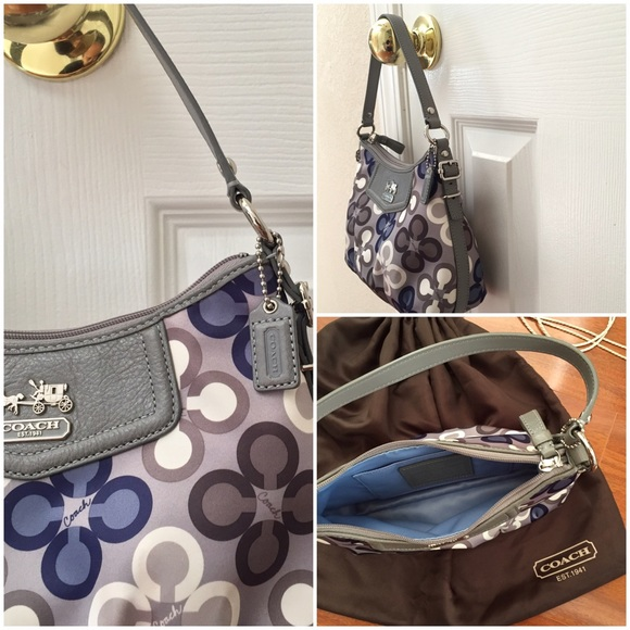 73 Off Coach Handbags Coach Madison Top Pouch Handle