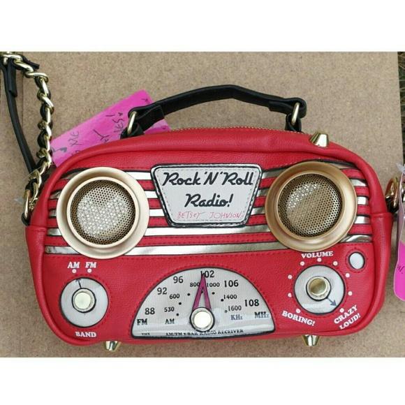 fe30db6af858 Betsey Johnson Tune In Radio mini crossbody bag. NWT