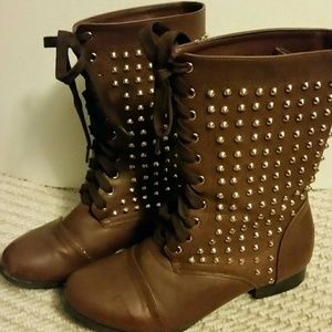 67% off Boots - Brown boho combat boots from Peyton's closet on ...