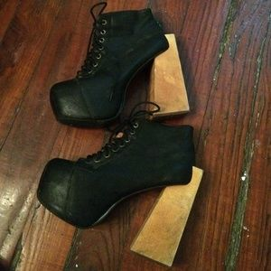 Jeffrey Campbell Black Leather Boots