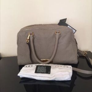 Marc Jacobs leather medium satchel warm zink