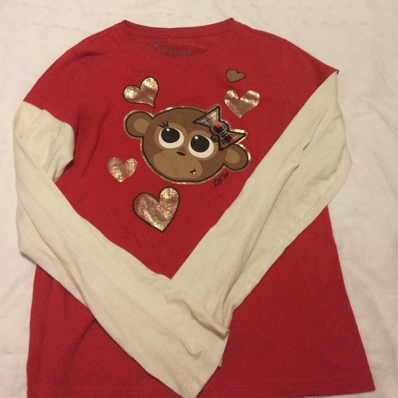 75 Off Justice Other Limited Too Monkey Shirt For Kids
