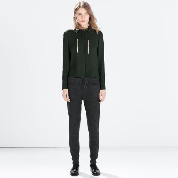 f32059e4 Zara Pants | Ribbed Knit Trousers | Poshmark