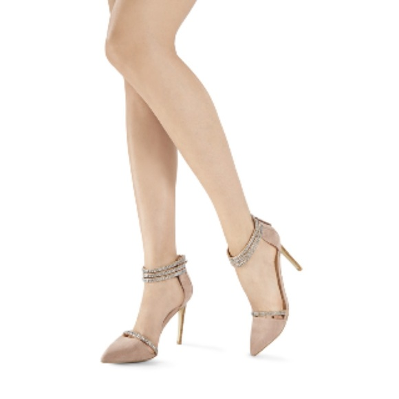 JustFab - Blush ankle strap heels from Suki's closet on Poshmark
