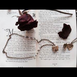 Jewelry - Butterfly heart locket necklace