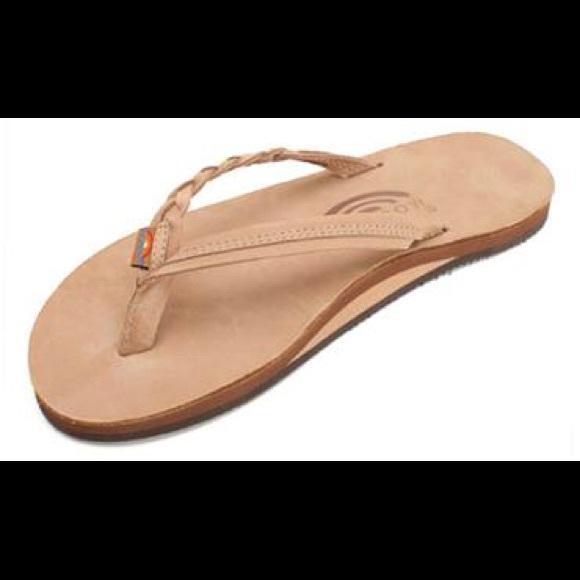 Rainbow Shoes  Flip Flops Braided Strap  Poshmark-7873