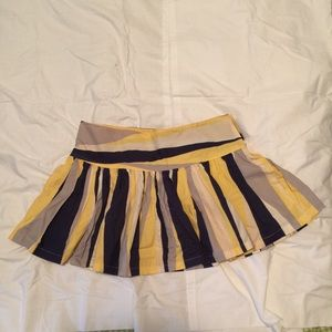 Mango stripe flare skirt