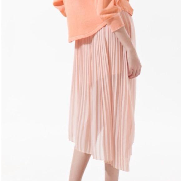 80 zara dresses skirts zara pink asymmetric