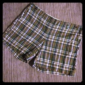 Plaid J. Crew City Fit Shorts