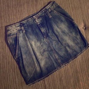 Denim & Supply Stonewashed Pleated Mini Skirt