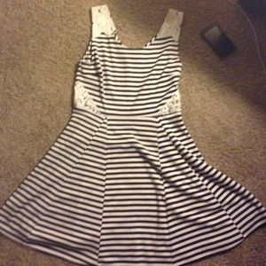 Poof couture Dresses & Skirts - Black and white striped dress