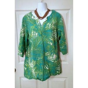 Palm leaf tunic