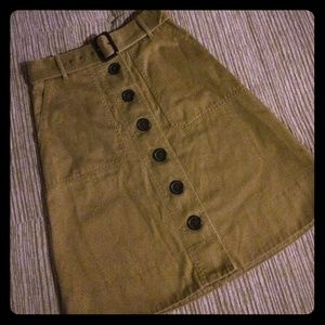 J. Crew Belted Safari Skirt
