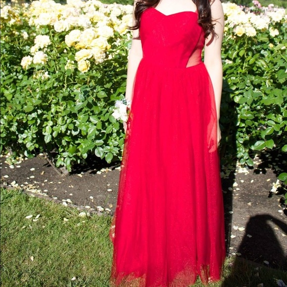Dresses | Red Tulle Gown | Poshmark