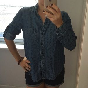 Anthro Chambray Arrow Shirt