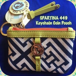 SPARTINA 449 Clutches & Wallets - Just Out-Spartina 449 Keychain Coin Purse 🇺🇸Made