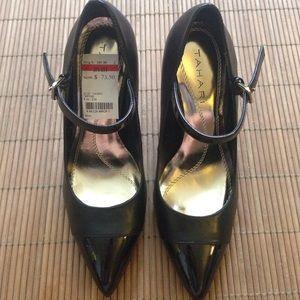 Tahari Sabina Leather Mary Jane Pumps