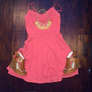 Coral sundress- perfect for spring!!