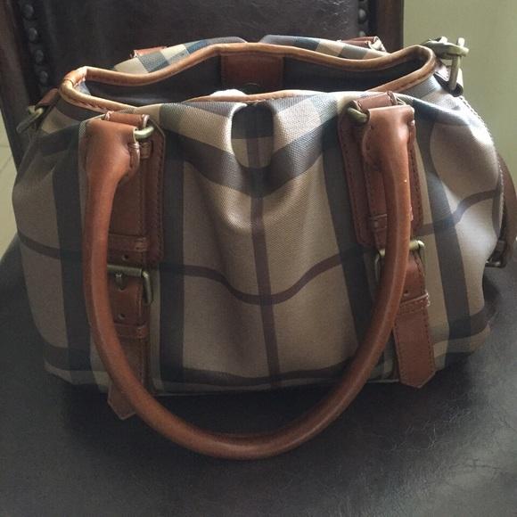 29ef7001c0f6 Burberry Handbags - Burberry smoked check northfield tote bag