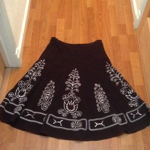 Sunny Leigh black embroidered skirt.