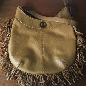 Axcess Handbags - Fringe Peace Sign Handbag Faux Leather Purse