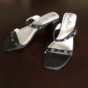 FIONI Clothing Shoes - FIONI Black Beaded Sandals