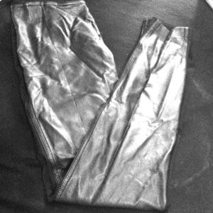 Pants - (Black) Skinny Leather trousers