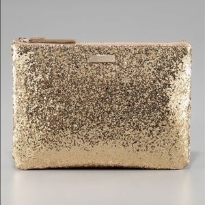 Kate Spade Little Gia Gold Clutch