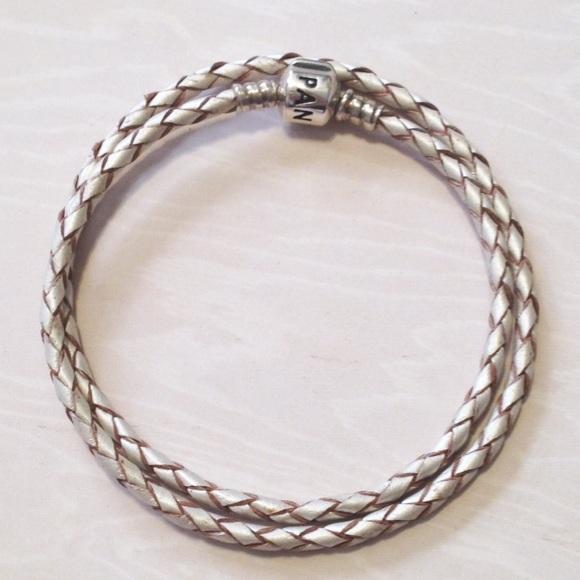 36 pandora jewelry wrap leather bracelet
