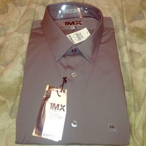 Grey fitted express men's shirt