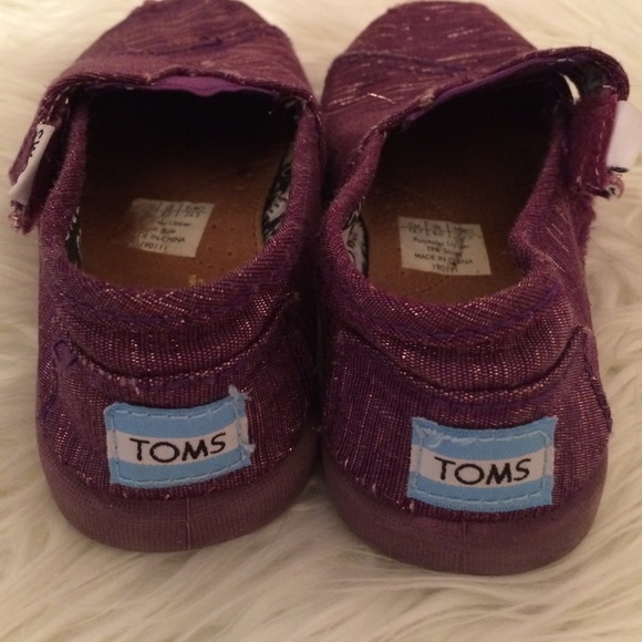 Toms shoes toddler girl purple shoes size 8