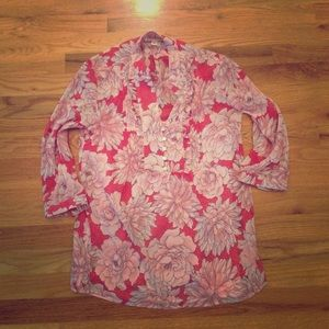 BR floral top (includes underneath camisole) - S