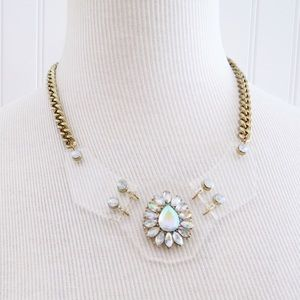 Jewelry - Rhinestone Lucite Statement Necklace