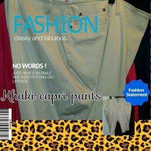 Just reduced: Khaki Capri pants