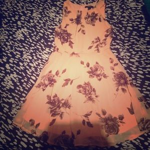 Floral peach dress