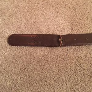 gucci gucci brown leather belt gold buckle italy from