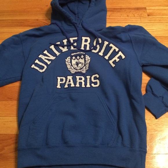 c15c16e70 Gildan Sweaters | Blue Universite Paris Sweatshirt | Poshmark