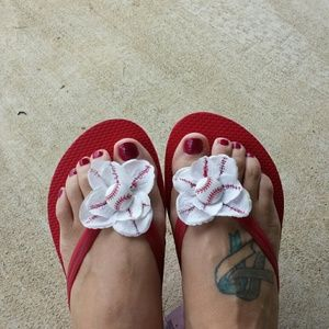 a138042b7468 Old Navy Shoes - Custom baseball flip flops