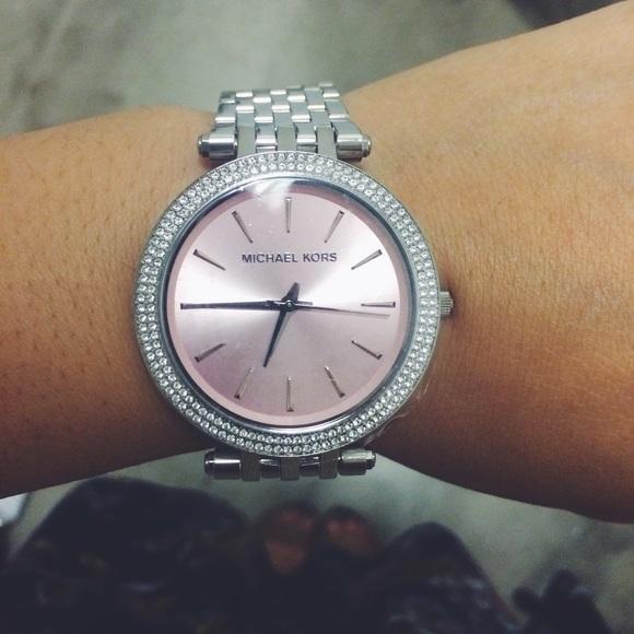 3d23914986a6 Michael Kors Darci silver tone Pink Dial watch. M 5508e4b301985e6a0e001574